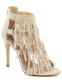 Wheldrake fringe heeled sandals