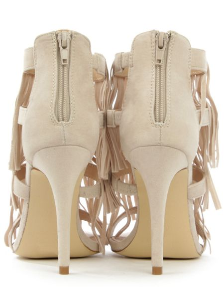 Daniel Wheldrake fringe heeled sandals