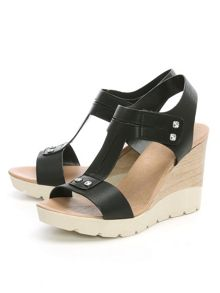 Daniel Peterlee high wooden wedge sandals