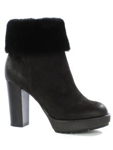 Daniel Maribel shearling trim ankle boots