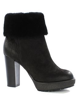Maribel shearling trim ankle boots