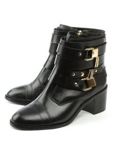 Daniel Reegan block heel metal trim ankle boots