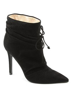 Erika ruched front ankle boots