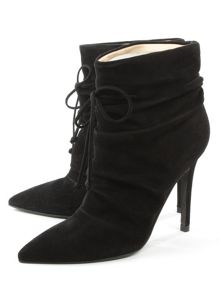 Daniel Erika ruched front ankle boots