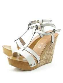 Daniel Prati elle woven wedge sandals