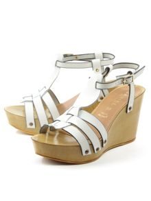 Daniel Prati grace wooden wedge sandals