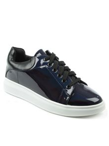 Daniel Catalpa metallic lace up trainers