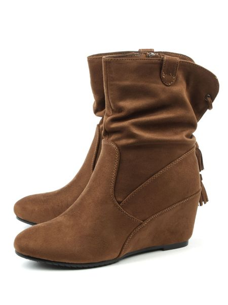 Daniel Storking wedges ankle boots