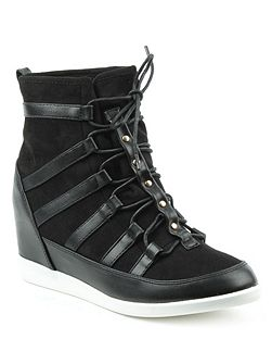 Woldview sporty wedges high top trainers