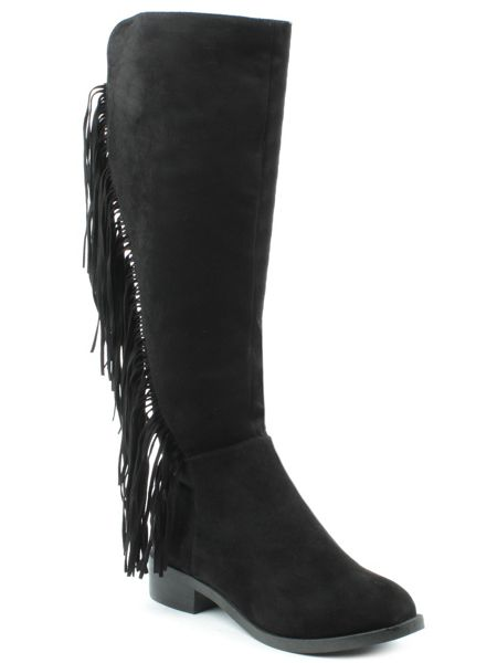 Daniel Willow park fringed knee high boots