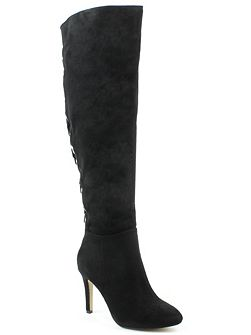 Priory rivet back knee high boots