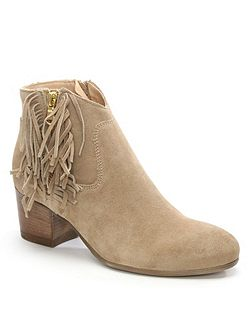Massonia fringed ankle boots