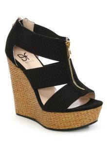 Daniel Linstead woven wedge sandals