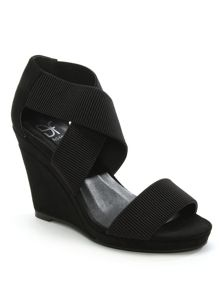Daniel Portmore cross strap wedge sandals