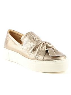 Laurestine knotted slip on trainers