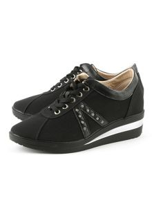 Daniel Shipton perforated wedge trainers