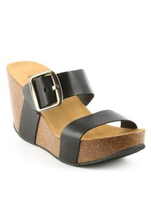 Daniel Paterinia glitter two bar wedge sandals