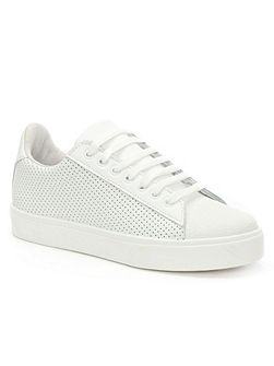 Gotska perforated lace up trainers