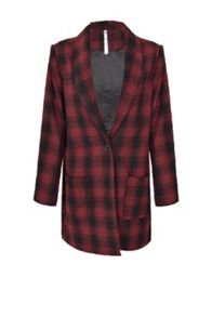 Checkered Boyfriend Jacket