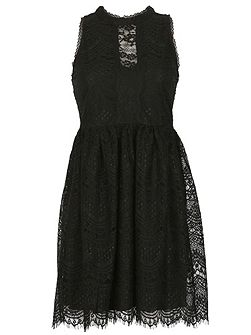 High Neck Victorian Lace Dress