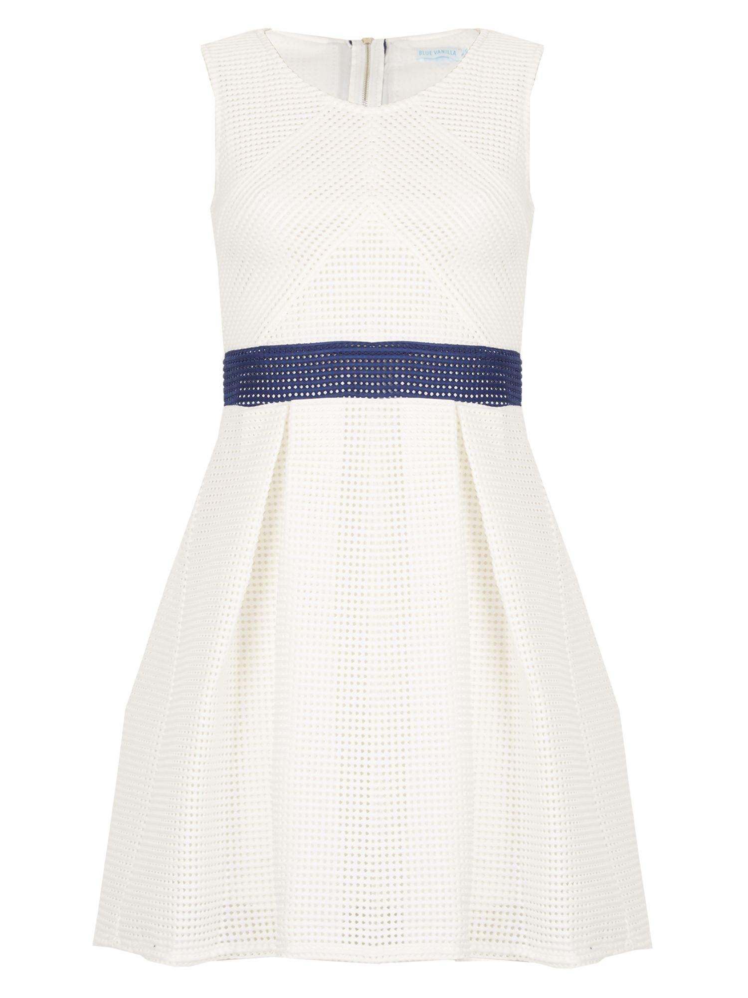 Blue Vanilla Mesh Zip Back Multiway Dress, White
