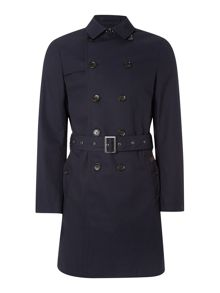Double Breasted Twill Trench Coat
