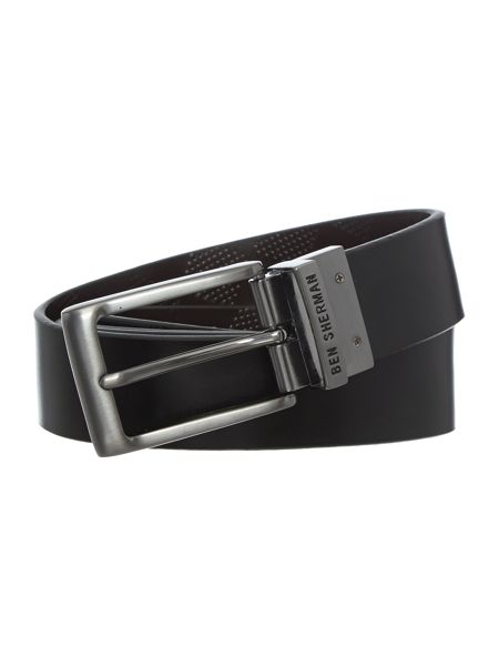 Ben Sherman Reversible Formal Gingham Leather Belt