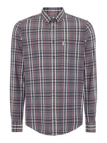 Chambray Check Classic Fit Long Sleeve Button Dow