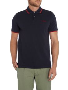 Ben Sherman Block Font Pique Polo Shirt