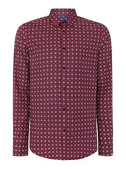 Mini Target Print Slim Fit Shirt