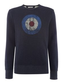 Ben Sherman Original 1963 Print Crew Neck Sweatshirt
