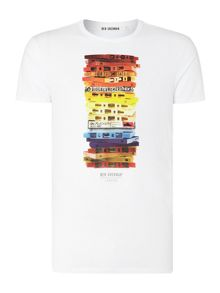 Cassette Print Crew Neck Regular Fit T-Shirt