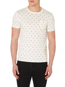 Ben Sherman Umbrella Print Crew Neck Regular Fit T-Shirt
