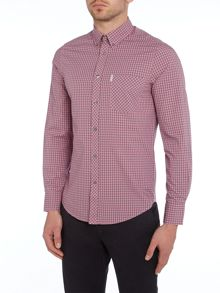 Classic Fit Gingham Long Sleeve Shirt