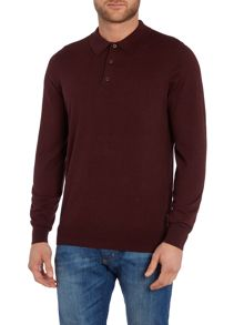 Long Sleeve Knitted Polo