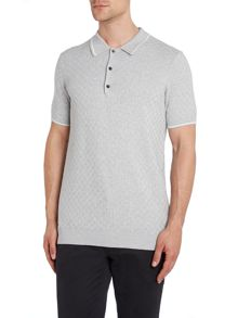 Ben Sherman Textured Crew Neck Button Jumpers