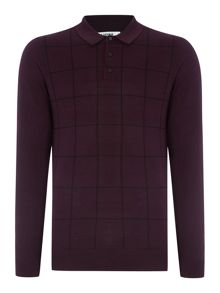 Ben Sherman Windowpane knitted polo
