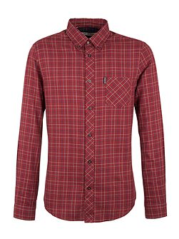 Long Sleeve Brushed Tattersal Check