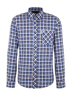 Long Sleeve Herringbone Check Shirt