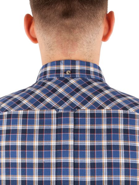 Ben Sherman Long Sleeve Herringbone Check Shirt