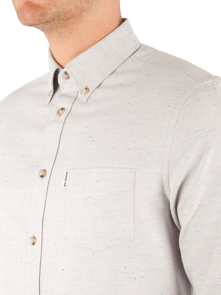 Ben Sherman Long Sleeve Herringbone Donegal Shirt