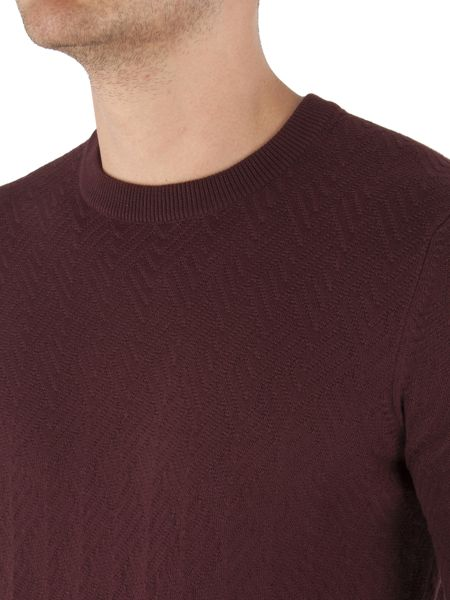 Ben Sherman The Twill Texture Crew Neck