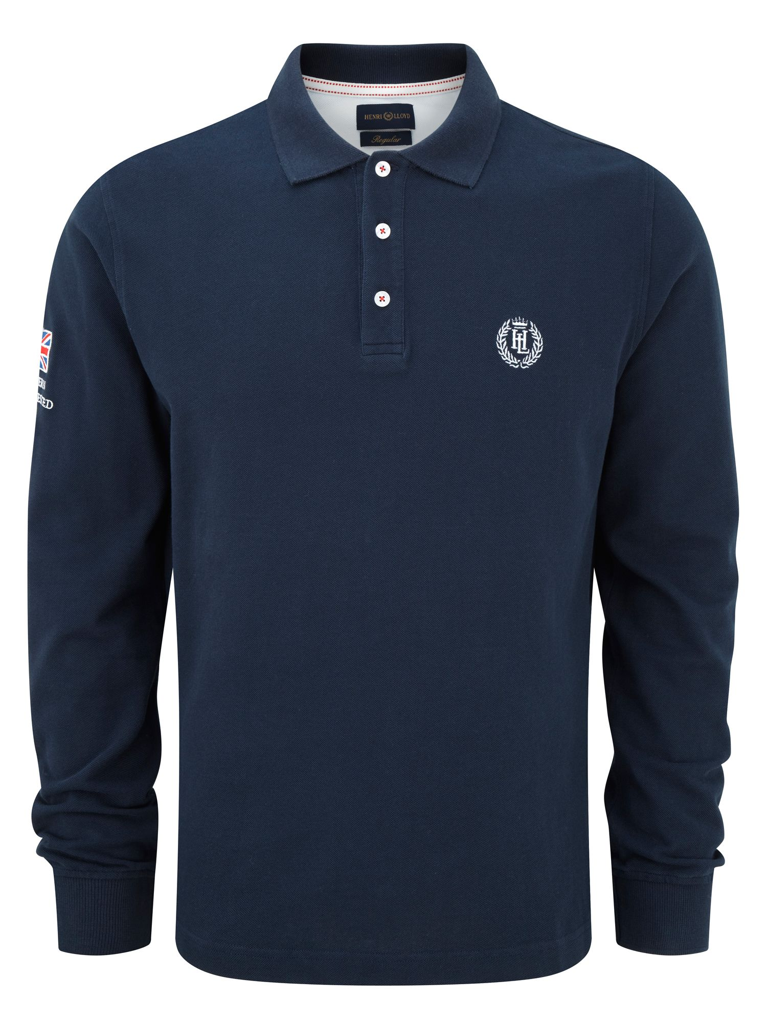 David regular long sleeve polo