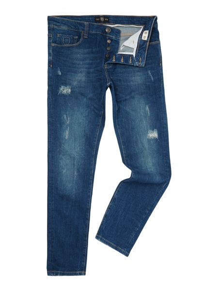 883 Police Laker 303 Tapered Stretch Jeans
