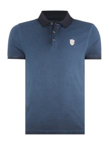 883 Police Dangelo Dip Dye Regular Fit Polo Shirt