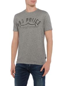 883 Police Frey marl grey graphic t-shirt