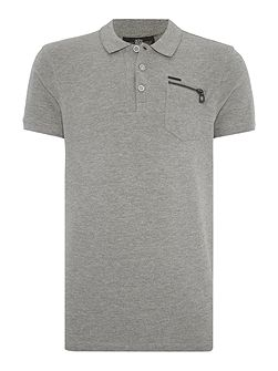 Denman marl grey polo
