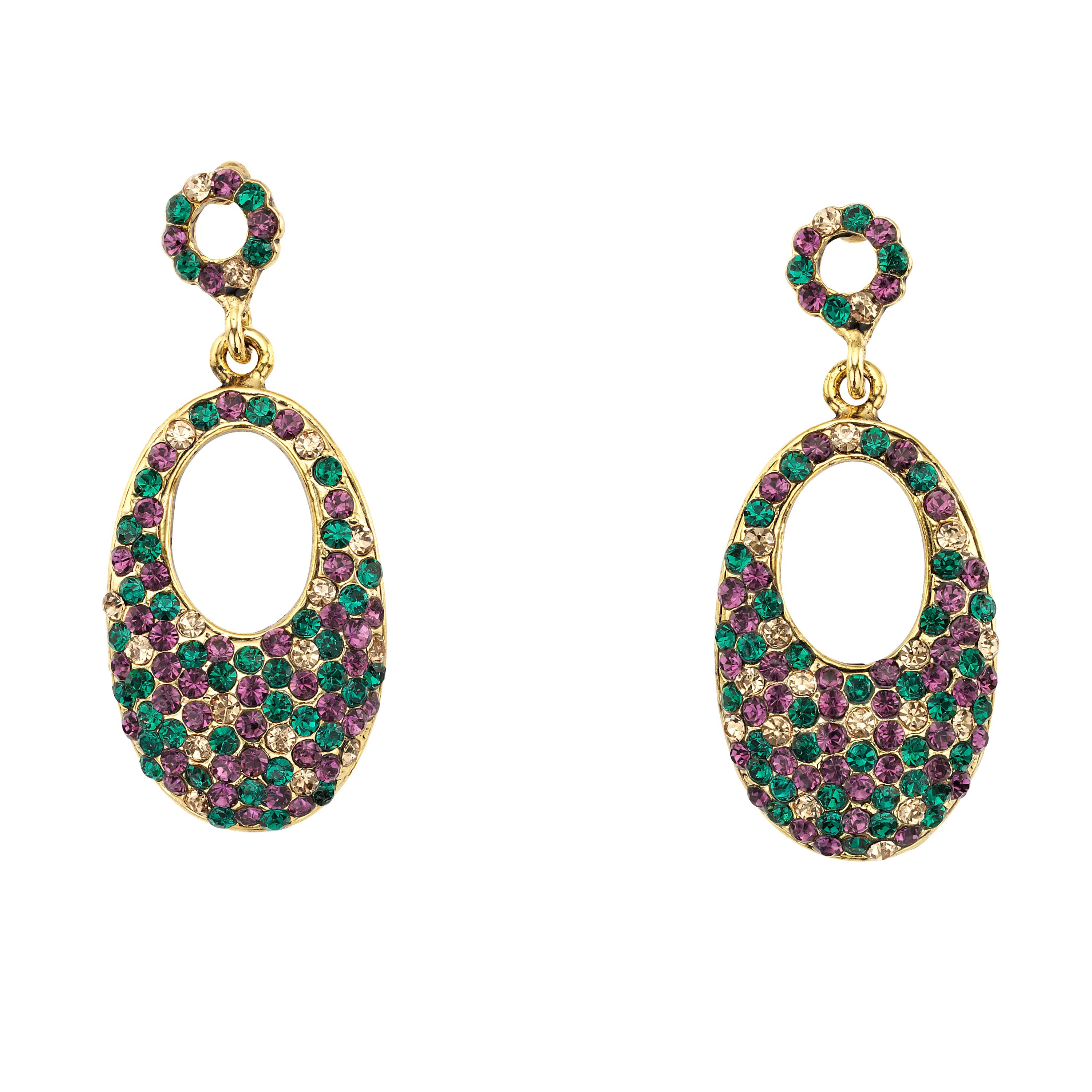 Hollywood oval drop earrings
