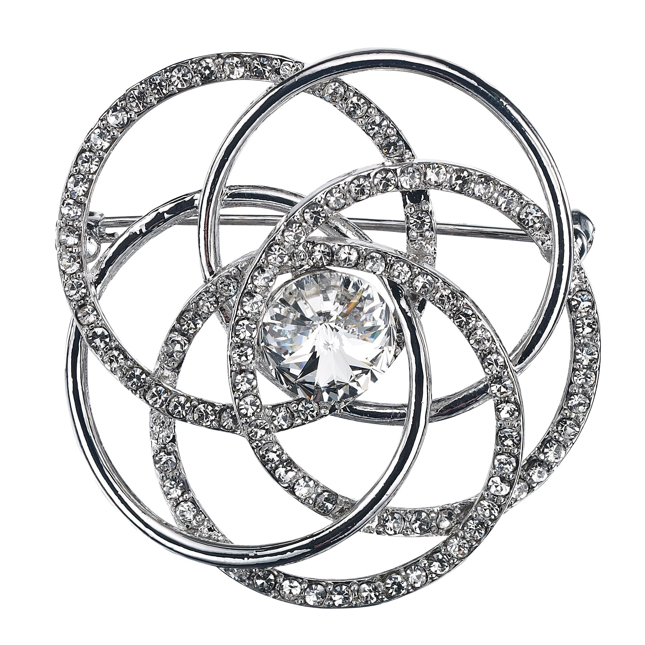 Entwined circle brooch