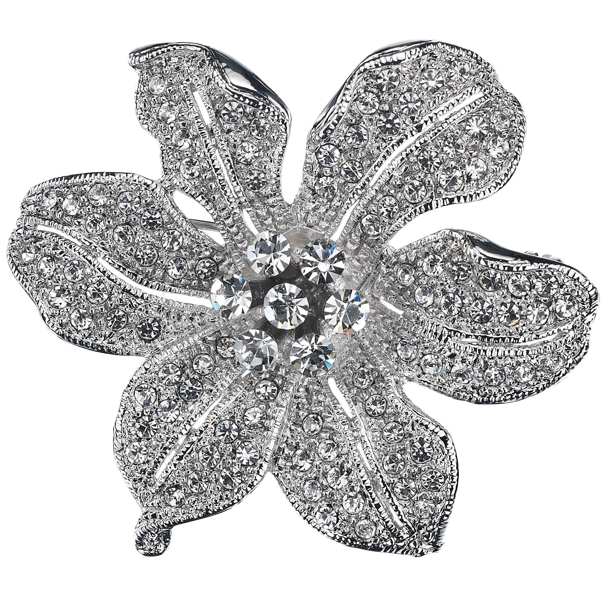 Studded flower brooch